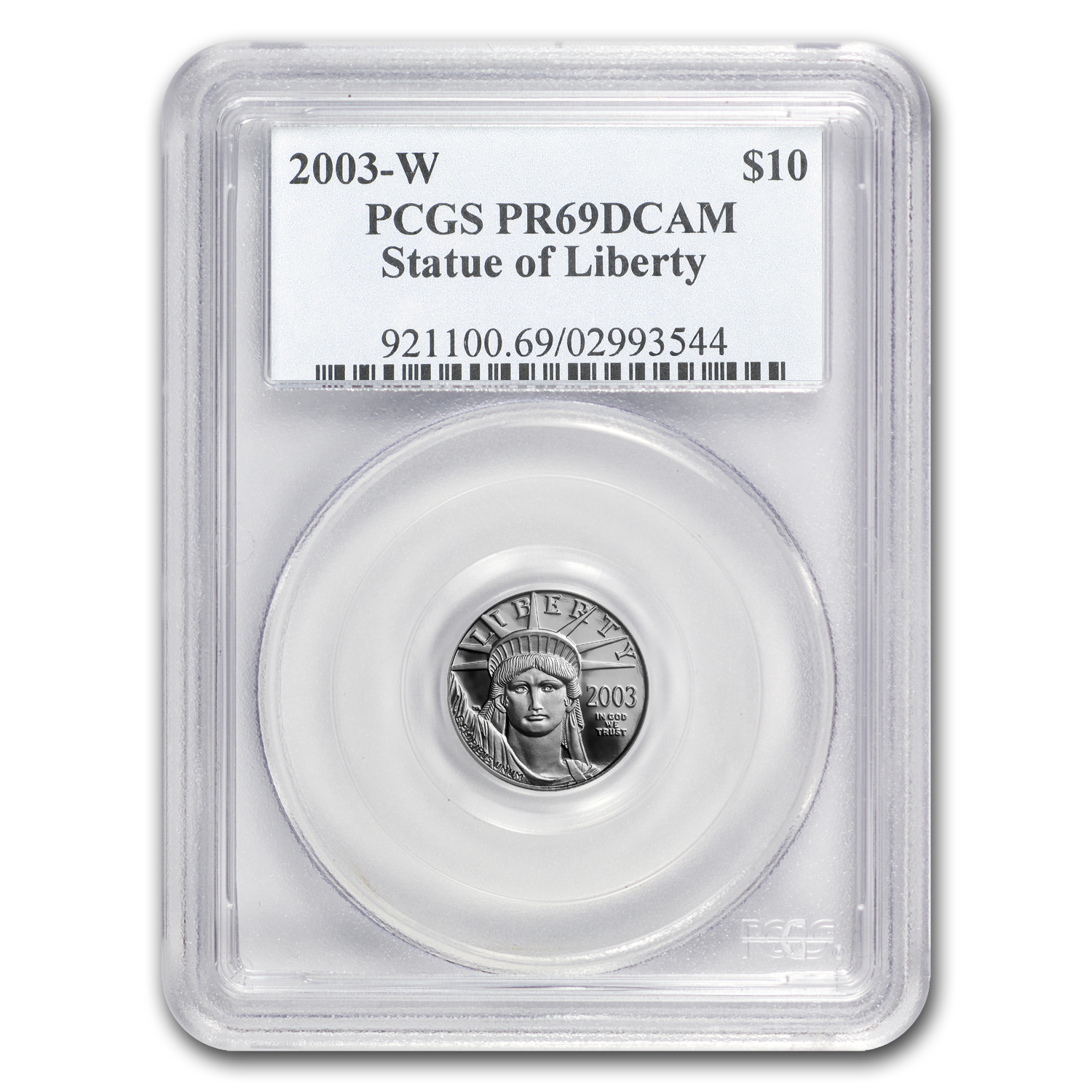 2003-W 1/10 oz Proof Platinum American Eagle PR-69 PCGS